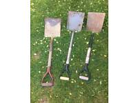 **GARDEN TOOLS**SHOVELS**£10 EACH**BARGAIN!!!**SOLID METAL**