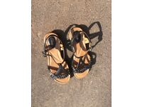 Black Clarks sandals