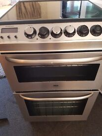Zanussi Electrolux double electric oven and glass hob. Stainless steel.Delivery is available