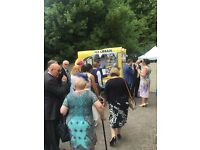Vintage Batmobile Ice Cream Van for weekend events and weddings