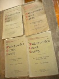 MILFORD ON SEA RECORD SOCIETY BOOKS 1926./7/8 AND 1948 VERY INTERESTING