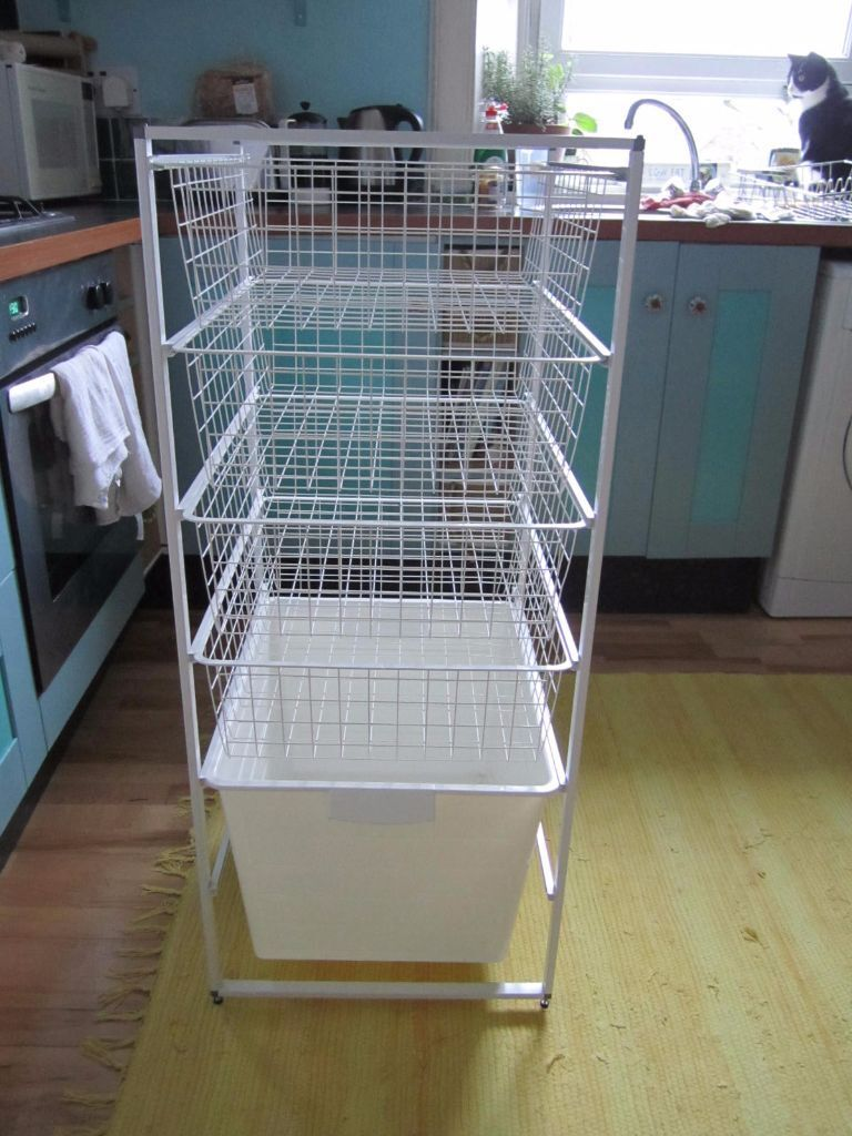 Ikea Storage System With Algot Frame 4 Komplement Wire