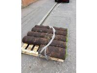 9 rolls of turf