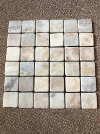 Just under 2 sqm of Tumbled Onyx Mosaic Tiles - 19 x 300mm by 300mm