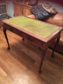FREE!! Antique mahogany and leather hall table