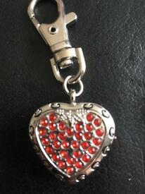 Heart shaped watch keyring