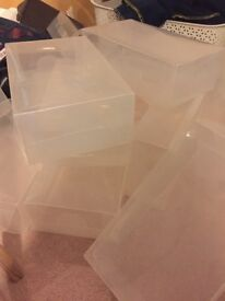 X20 Plastic Shoe Boxes for Organsing