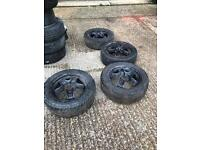 Vauxhall Astra sportive steel wheels and tyres