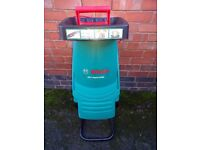 Bosch AXT rapid 2200 garden shredder. As new. Used only once.