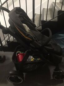 Graco Evo XT Pushchair- Grey and yellow