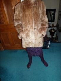 Vintage 3/4 Length Fur Jacket in mint condition