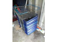 30x Metal Quality Shopping Baskets 1 pound each Can deliver free locally