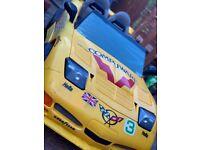 Corvette ride on 12v battery car