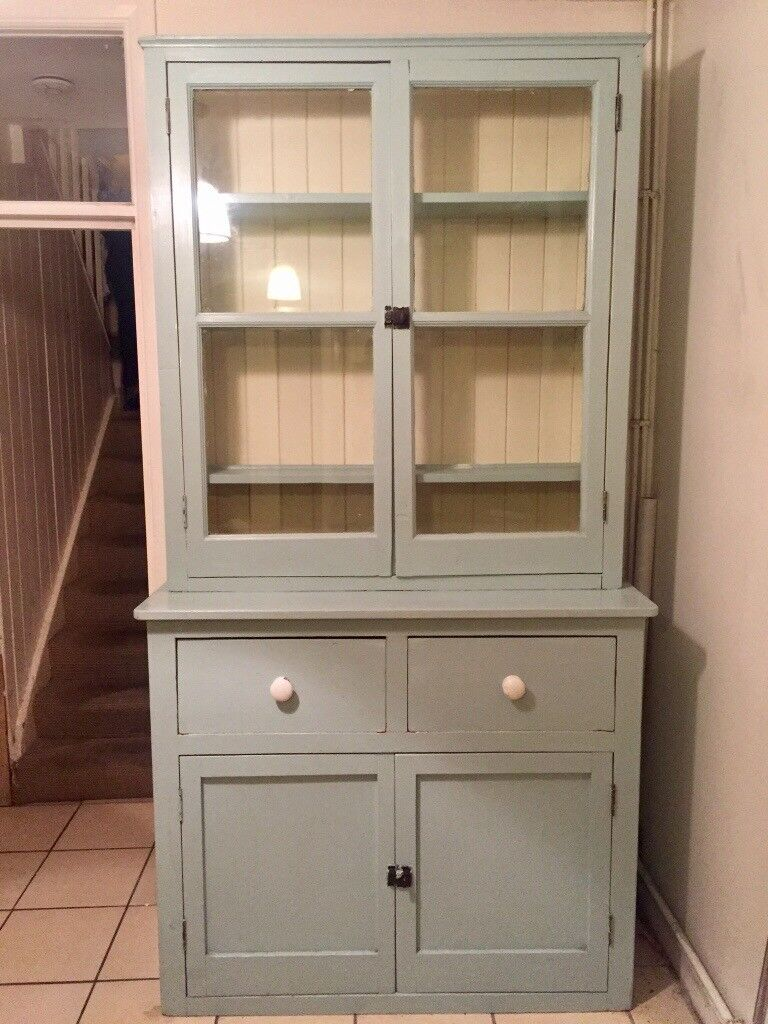 Shabby Chic French Dresser Kitchen Cabinet Duck Egg Blue