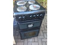 Black electric cooker 50cm.,,,,Cheap Free Delivery