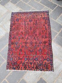 Lovely Traditional Vintage Persian Wool 2 7 X 4 1 Oriental Rug Handmade Carpet Rugs