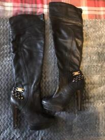 River island knee high boots