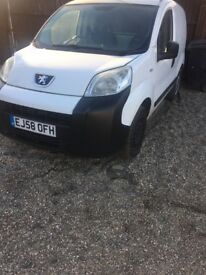 Spears and repairs 2009 Peugeot bipper needs gear box stars and runs need towing away £350