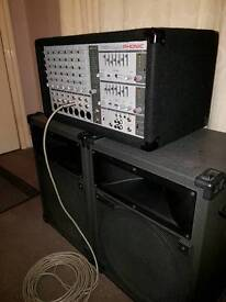 Phonics delux pa system with with twin speakers