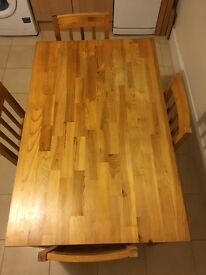 *GONE PENDING COLLECTION* Kitchen table and 4 chairs
