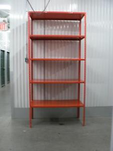 Great Deal on used industrial metal shelves 18'' x 48''