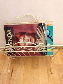 Retro magazine rack / toilet or towel rack