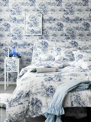 Ikea Bettwäsche Emmie Land 2tlg 140x200/80x80 Toile de Jouy blau Landhaus NEU
