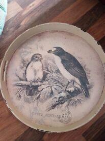 Vintage style distressed tea tray