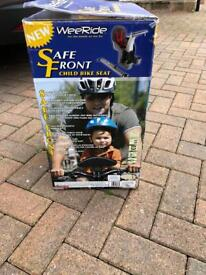 Safe front child bike seat never used