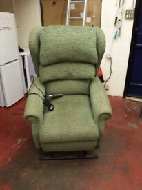 sitting pretty electric riser and recliner armchair with built in heat and 5 zone massage functions