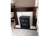 Mahogany effect fire surround/ electric stove open to offers