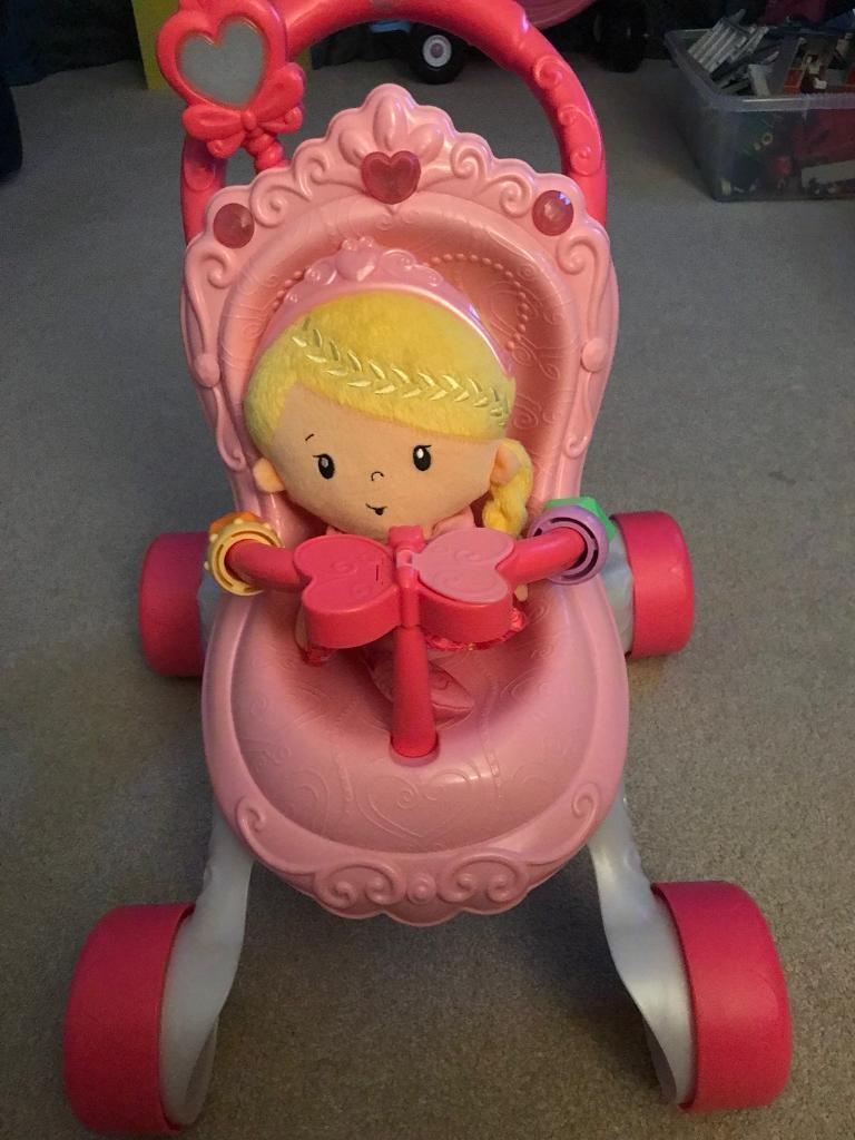 Fisherprice Princess musical pushchair and doll