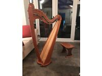HARP - Telynau Teifi Eos with Scroll