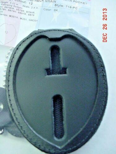 Shield Shape With Eagle  Clip on Badge holder, in Black 12
