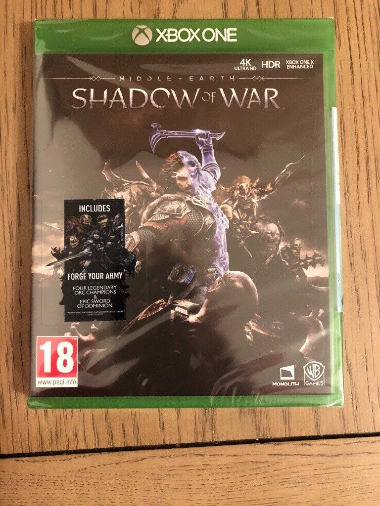 Middle Earth Shadow of Wars Xbox One New
