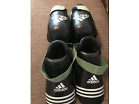 Adidas semi contact kickboxing gloves and foot guards