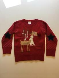 Girls Xmas jumper size 5 years.