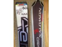 A pair of nice Salomon aero gti 170cm long skis