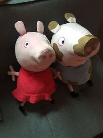 Large Peppa Pig and George Cuddly Toys