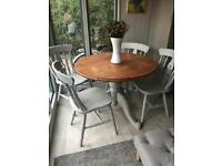 Annie Sloan French Style Vintage Round Dining Table and Chairs
