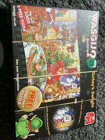 2 Christmas wasgij jigsaw puzzles