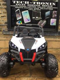 Children's 24v Buggy, Parental Remote & Self Drive, White Available