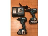 Makita lxt brushless drill/ impact driver twin pack
