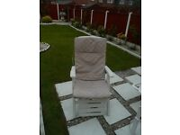 Two garden chairs seat cushions (cushions only not the chairs)