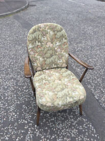 ERCOL windsor armchair , in good condition . Cushions in good condition . Free local delivery.