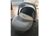 Baby (bebecar) car seat for sale! Silver grey barely used