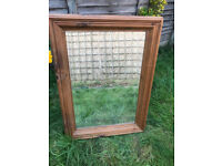 Mirror solid wooden frame