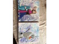 Frozen canvas picture x2