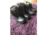 2 pairs Men's Work Boots - UK 8 - just need innersoles and laces