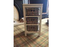 Time and Tide Bathroom Cabinet Three Drawer Wicker